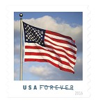 "Forever Stamps ""Old Glory"" sheet"