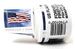 Roll of 100 Flag Postage, US Flag Stamps